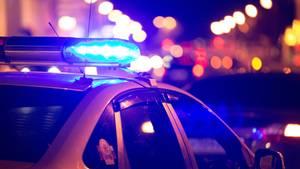 Ein Polizeiauto in den USA