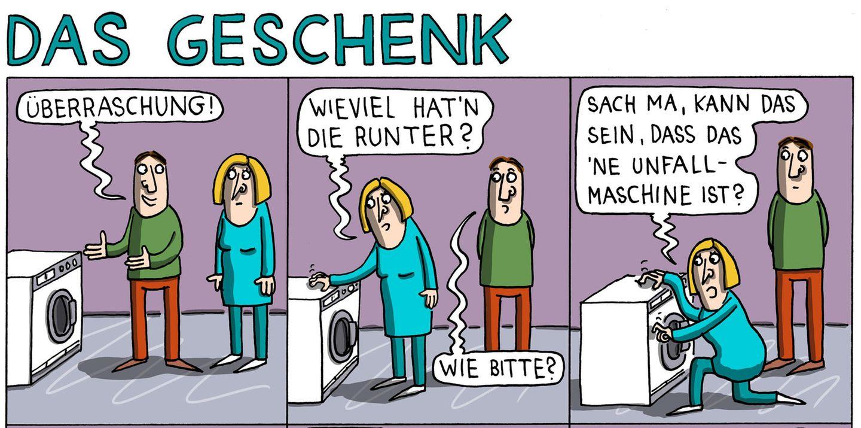 Stern-Comics: Mit dieser Waschmaschine stimmt etwas nicht