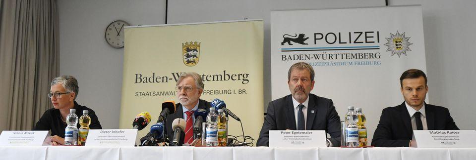 Teilnehmer der Pressekonferenz in Freiburg