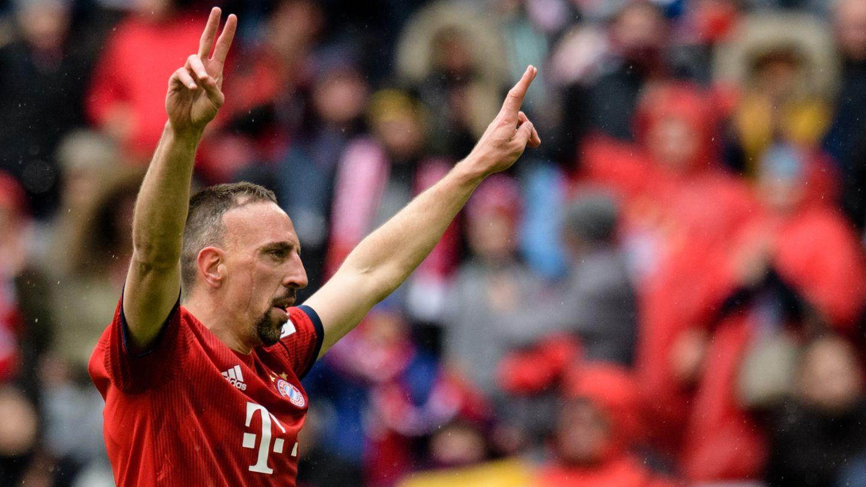 Franck Ribéry möchte zumEnde seiner Bayern-Zeit den neunten Meistertitel einheimsen und den Pokal gewinnen.