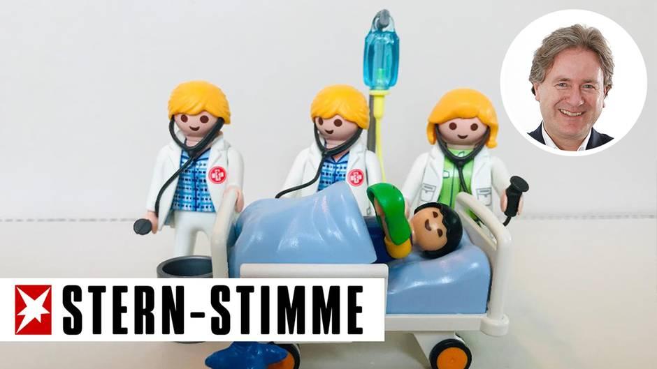 Als Frank Behrendt seiner Tochter Holly von den Erlebnissen im Krankenhaus erzählte, baute sie kurzerhand dieses Motiv aus Playmobil-Figuren auf