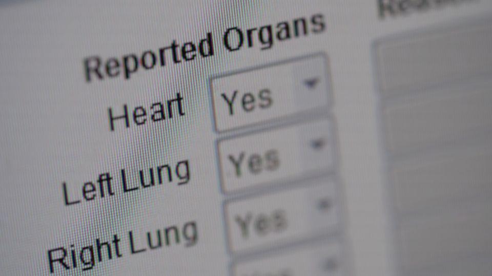 Organspende Liste