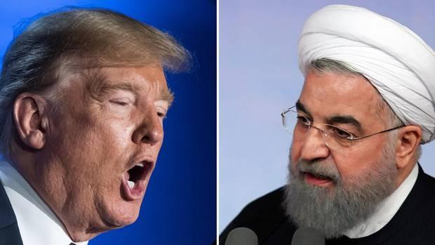 US-Präsident Donald Trump und Irans Präsident Hassan Ruhani