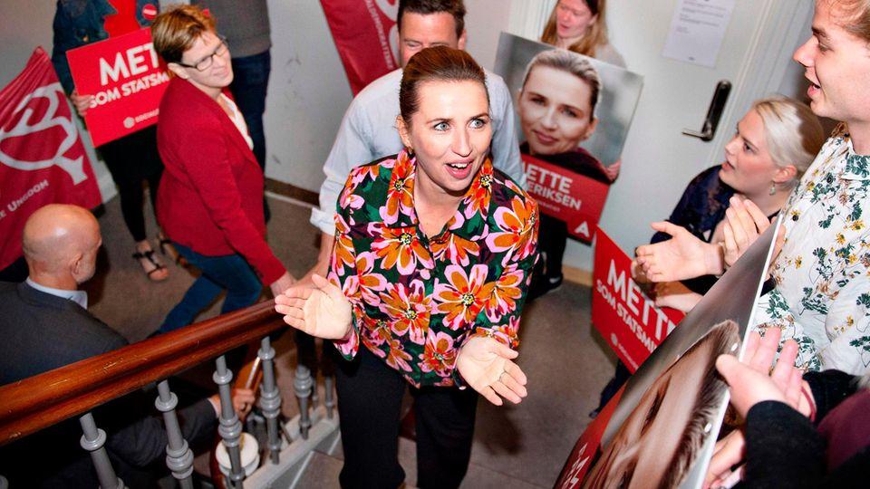 Die Spitzenkandidatin der dänischen Sozialdemokraten, Mette Frederiksen