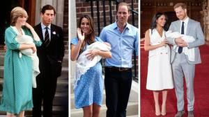 Herzogin Meghan und Prinz Harry präsentieren Baby Sussex