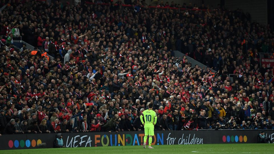 Anfield war an diesem Abend zu groß für Messi und den FC Barcelona