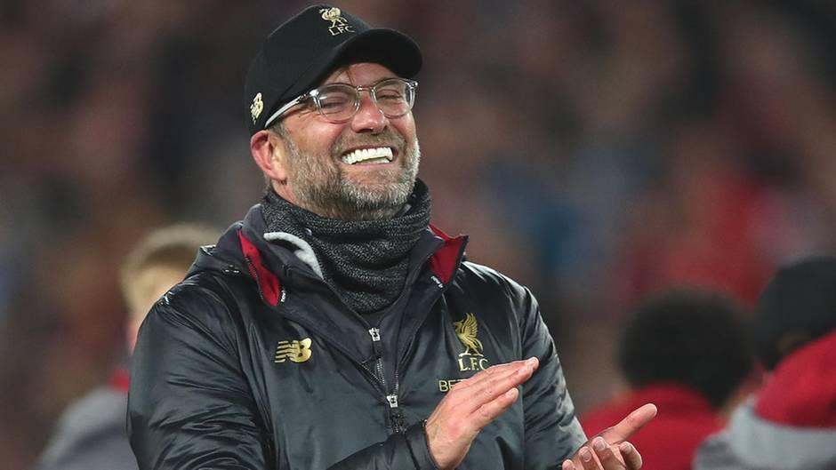 Strahlt nach dem Champions-League-Sieg gegen den FC Barcelona übers ganze Gesicht: Liverpools Trainer Jürgen Klopp