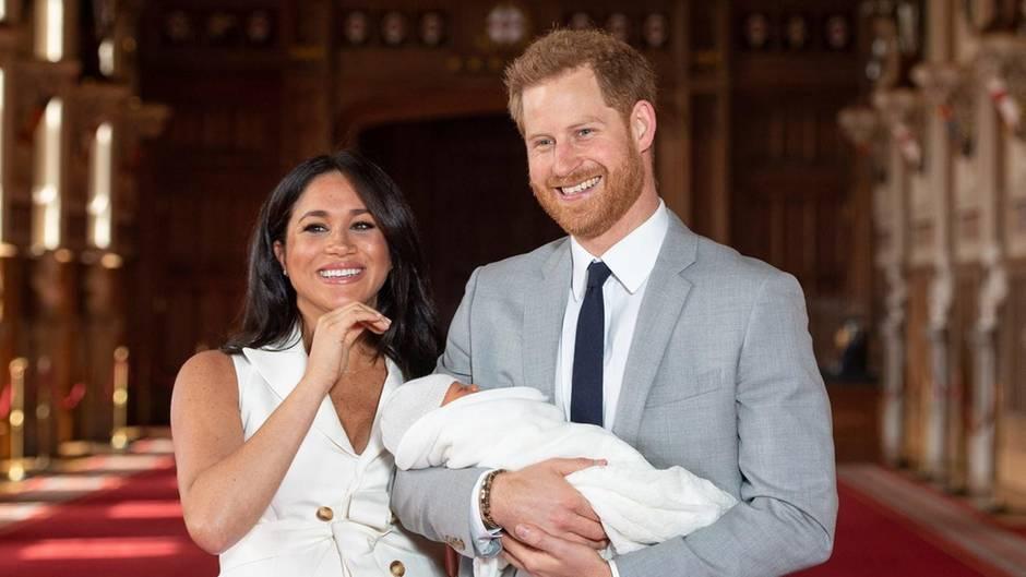 Herzogin Meghan, Prinz Harry, Archie Harrison Mountbatten-Windsor
