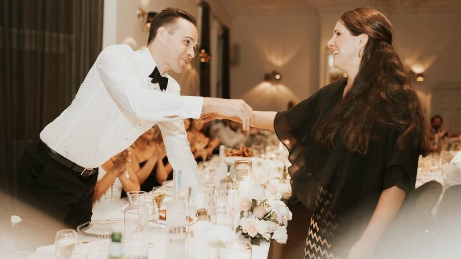 Chad und Sina auf der Hochzeit von Chad