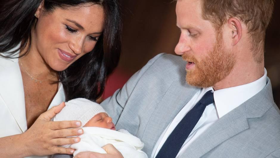 Meghan und Harry mit ihrem Sohn