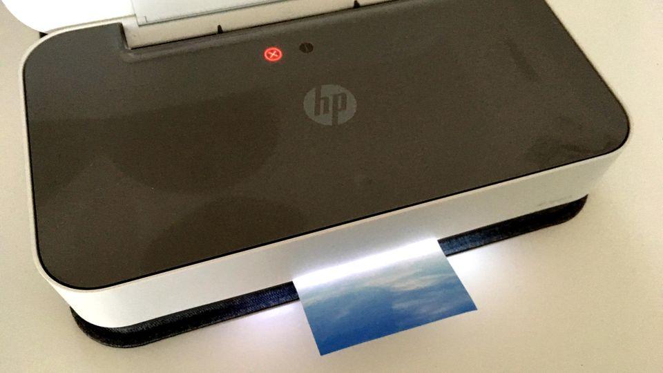 HP-Drucker Tango X druckt Foto aus