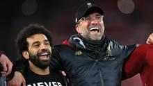 Liverpool-Coach Jürgen Klopp hatte jede Menge Spieler zum Feiern, keiner davon kam - zumindest lauf Uefa - aus dem selben Land wie er