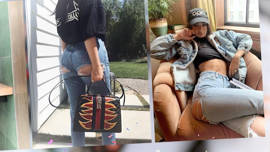 Stars mit Lochjeans : Ist das der neue Jeans-Mode-Trend für den Sommer 2019?