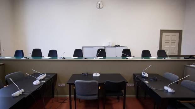 Saal im Hamburger Landgericht