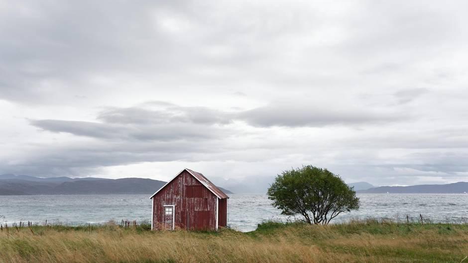 Blick von der Küste Skandinaviens auf die Nordsee