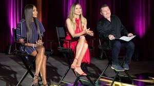 Naomi Campbell, Heidi Klum und Mat McCabe begutachten die GNTM-Kandidatinnen