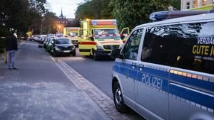 Polizei und Rettungskräfte in Dresden
