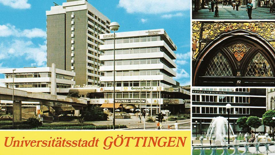 Vor mehr als 40 Jahren druckte die Stadt das Gebäude stolz auf Postkarten