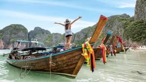 Vor der Sperrung: Maya Bay in Thailand