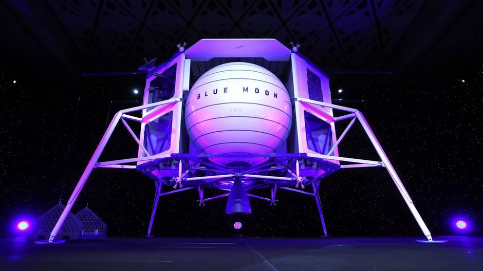 """Model """"Blue Moon"""": Mit dieser Raumfähre will Amazon zum Mond"""