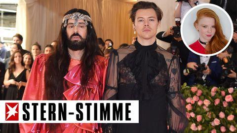 Alessandro Michele und Harry Styles (rechts)