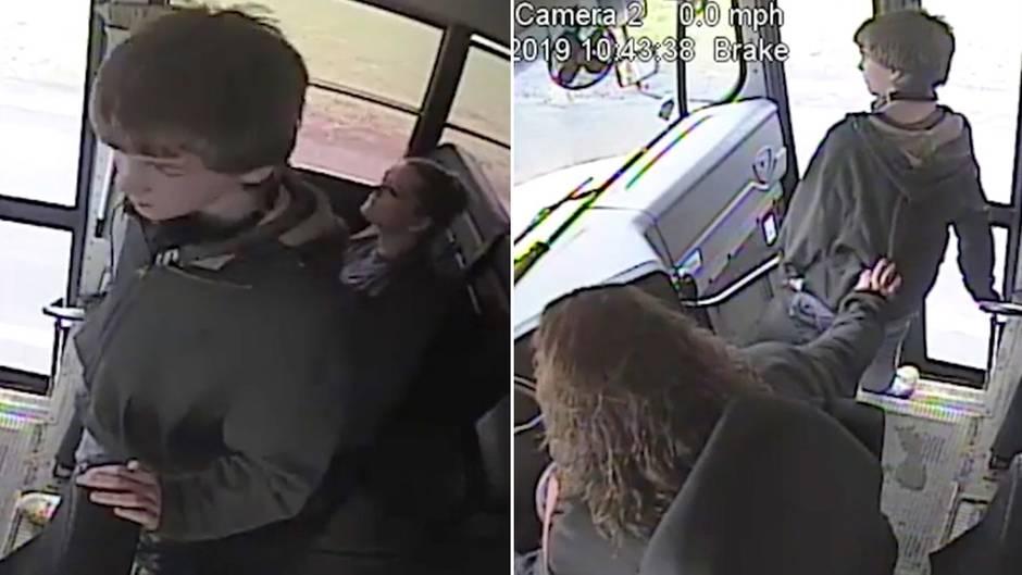 Blitzschnelle Reaktion: Heldin am Steuer: Busfahrerin rettet Schüler vor Autounfall