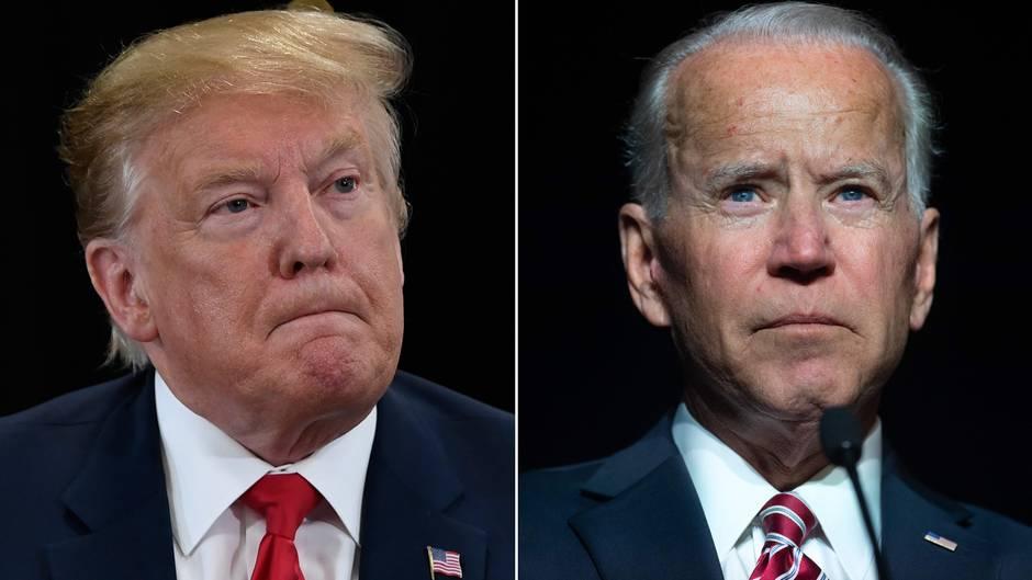 Donald Trump (l.) undJoe Biden