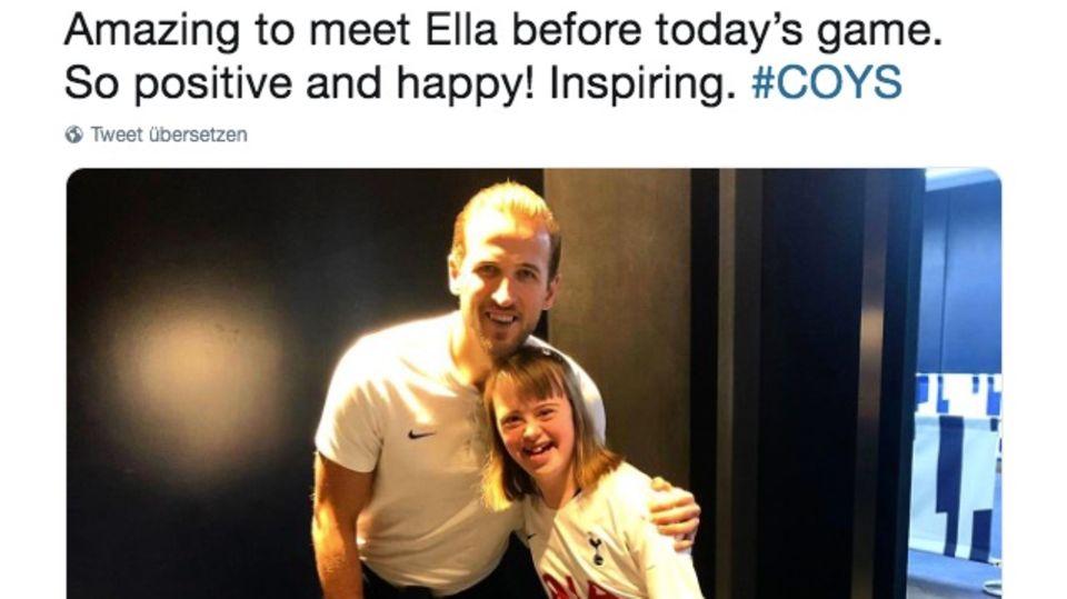 Harry Kane trifft Fan: Mädchen mit Down-Syndrom wird brutal gemobbt – dann macht ein Fußballstar sie glücklich