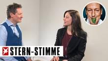 Dr. Eckart von Hirschhausen interviewt Studentin Ira