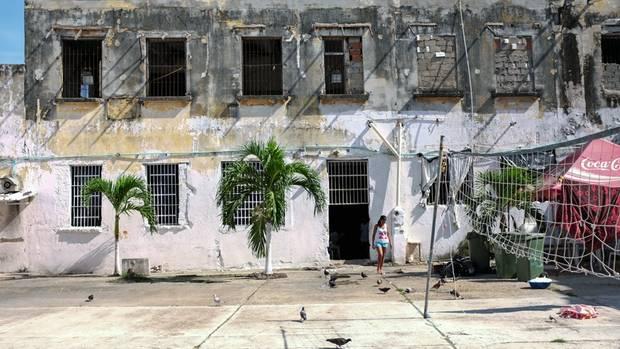 Das Gefängnis liegt mitten in der Altstadt Cartagenas