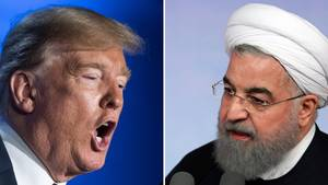 Gegenspieler: US-Präsident Donald Trump und der iranische Präsident Hassan Rohani