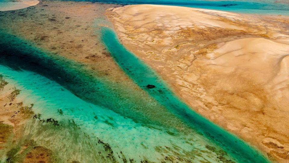 Wie ein Gemälde: das Bazaruto-Archipel an der Südküste Mosambiks, nahe der Grenze zu Südafrika