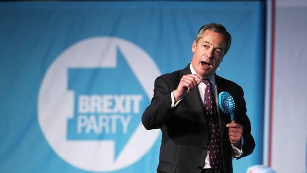 Nigel Farage tritt mit der Brexit-Partei bei der Europawahl an