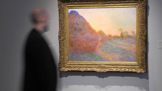 """Claude Monets Gemälde """"Meules"""" für 98,5 Millionen Euro bei Sotheby's versteigert"""