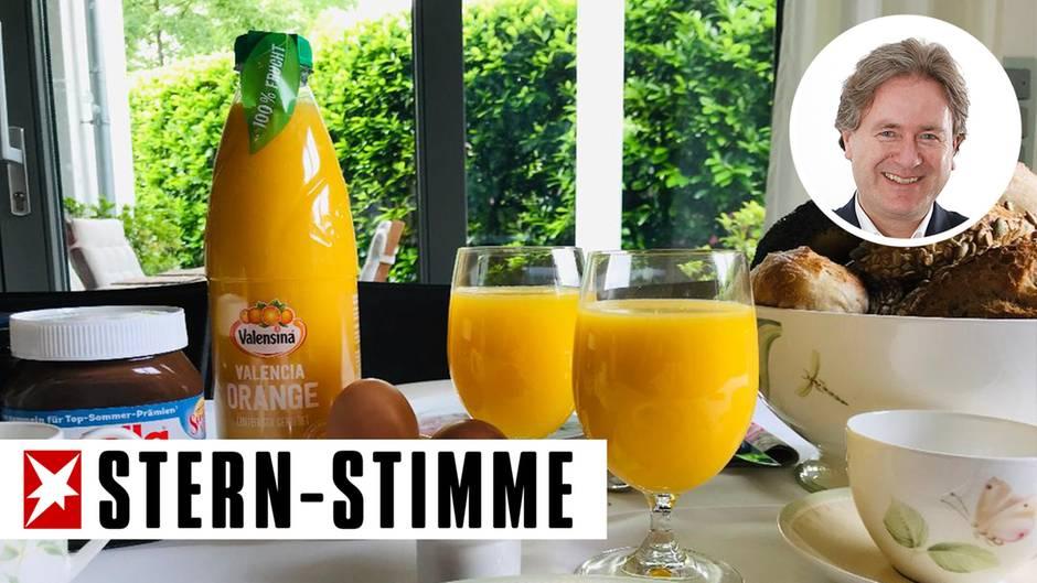 Sonntäglicher Frühstückstischim Hause Behrendt