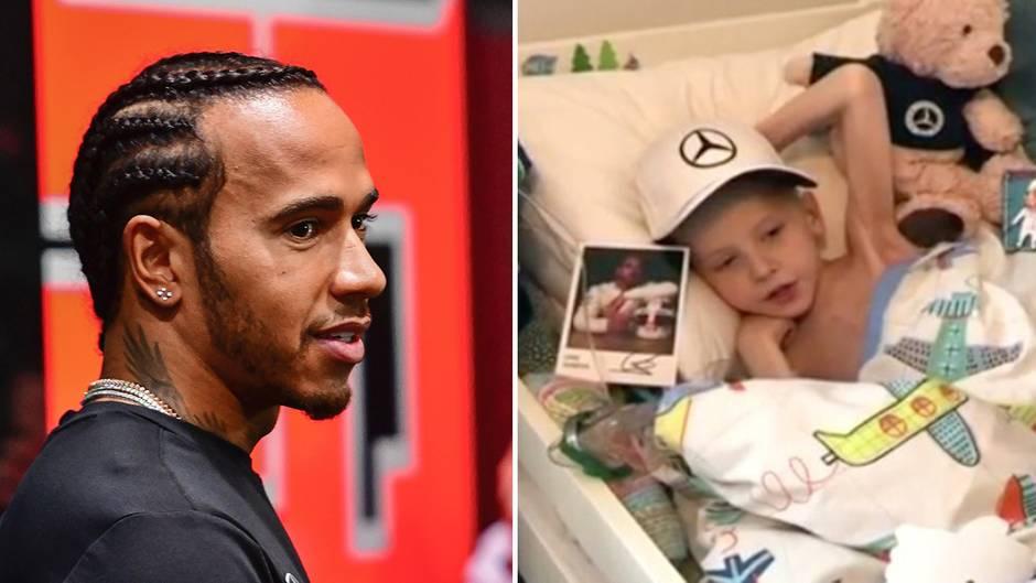 Unheilbar kranker 5-Jähriger: Junge sendet bewegende Nachricht an Hamilton: Rennfahrer antwortet mit unglaublichem Geschenk