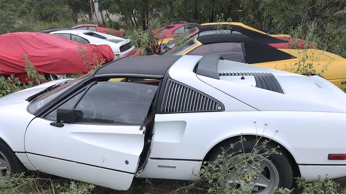 Verrottete Luxus-Autos: Ferrari-Friedhof: Erben entdecken zahlreiche Sportwagen – doch die Sammlung gibt Rätsel auf