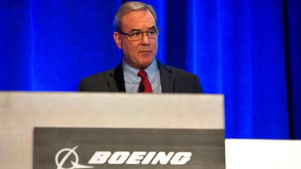 Mike Sinnett, Boeing Vice President of Product Strategy,  bei einem Pressetermin in Renton im Bundetstaat Washington