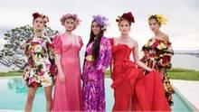 """Die letzten fünf Kandidatinnen kämpfen um den Titel """"Germany's Next Topmodel""""."""
