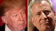 Donald Trump und Bill de Blasio