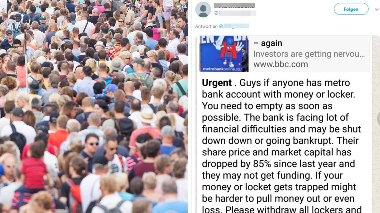 Wegen Whatsapp-Fake-Meldung stürmen Kunden eine Bankfiliale