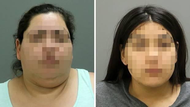 Diese 46-Jährige (l.) und ihre 24 Jahre Tochter wurden nach dem Tod einer Schwangeren in Chicago festgenommen