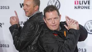 Die Fernsehpolizisten Harry Weinkauf und Toto Heim bei einer Preisverleihung