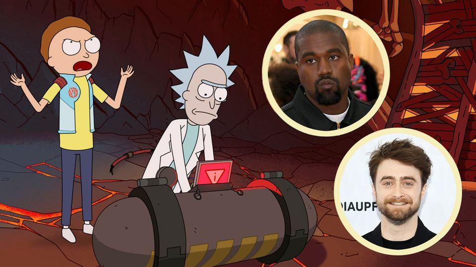 "Serie bei Netflix: Kanye West und Daniel Radcliffe bald bei ""Rick and Morty""?"
