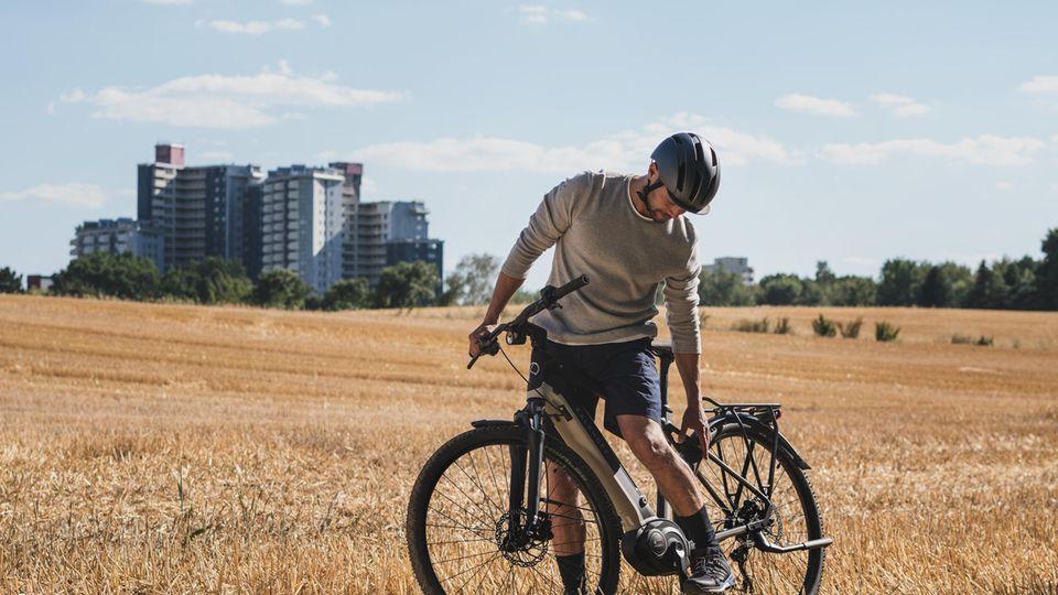 Trotz der breiteren Reifen handelt es sich nicht um ein Mountainbike.