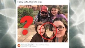 Reddit-Rätsel: Dieses Familien-Selfie ohne Beine verwirrt das Internet