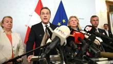 Vizekanzler Heinz Christian Strache (FPÖ) verkündet seinen Rücktritt