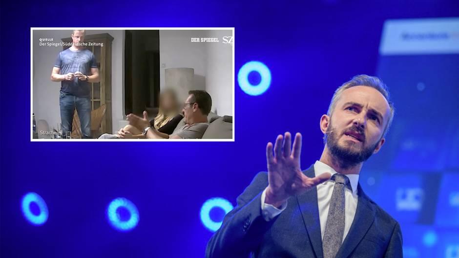 Was hat TV-Moderator Jan Böhmermann mit dem Skandalvideo um den österreichischen Ex-Vizekanzler Strache zu tun?