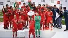 So jubelt der Dauer-Meister: Der FC Bayerist zum siebten Mal in Folge Deutscher Meister