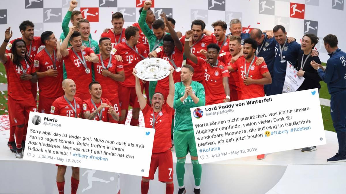 """Zum 29. Mal Deutscher Meister: """"Leider geil, muss man auch als BVB-Fan so sagen"""" – Twitter ist ergriffen vom Titelgewinn der Bayern"""